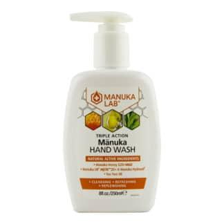 Sapun lichid MANUKA LAB® cu miere de Manuka MGO 525+, ulei de Manuka MBTK 25+ si ulei de Tea Tree, 250 ml, natural