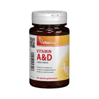Vitamina A si D (10.000/ 1.000 UI), 60 cps, Vitaking