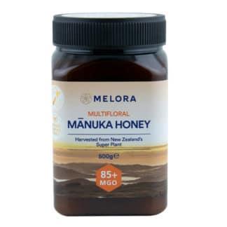 Miere de Manuka poliflora MELORA, MGO 85+ Noua Zeelanda, 500 g, naturala