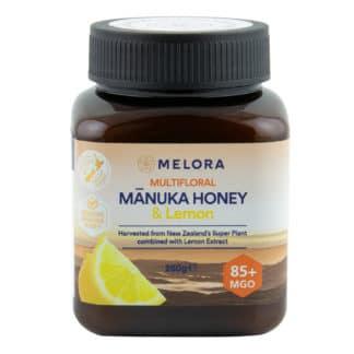 Miere de Manuka poliflora cu lamaie MELORA, MGO 85+ Noua Zeelanda, 250 g, naturala