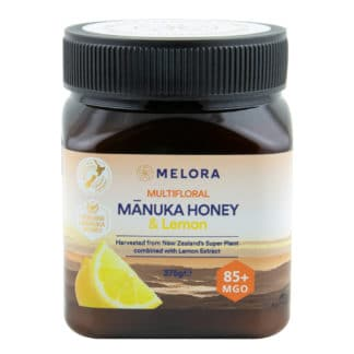 Miere de Manuka poliflora cu lamaie MELORA, MGO 85+ Noua Zeelanda, 375 g, naturala