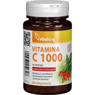 Vitamina C 1000 mg cu absorbtie lenta, 60 cpr, Vitaking
