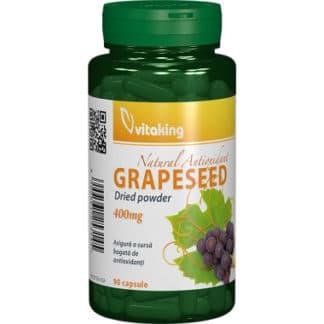 Capsule din samburi de struguri 400 mg, 90 cps, Vitaking