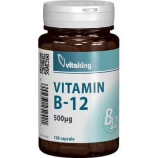 Vitamina B12 (cianocobalamina) 500 mcg, 100 cps, Vitaking