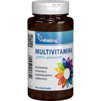 Multivitamina cu minerale pentru adolescenti, 90 cpr, Vitaking