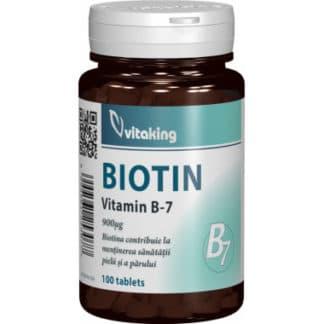 Vitamina B7 (biotina) 900 mcg, 100 cpr, Vitaking