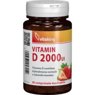Vitamina D 2000UI masticabila, 90 cpr, Vitaking