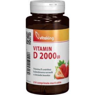 Vitamina D 2000UI masticabila, 210 cpr, Vitaking