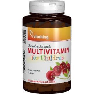 Multivitamina cu minerale pentru copii, 90 cpr, Vitaking