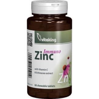 Immuno Zinc masticabil cu Echinacea, 60 cpr, Vitaking