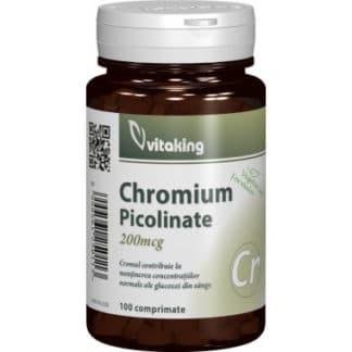 Picolinat de crom 200mcg, 100 cpr, Vitaking