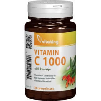Vitamina C 1000 mg cu macese, 30 cpr, Vitaking