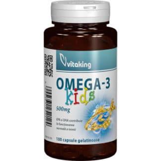 Omega 3 pentru copii, 500 mg, 100 cps, Vitaking