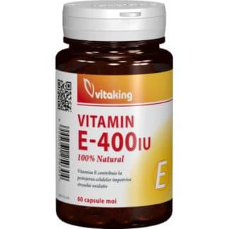 Vitamina E naturala 400 UI, 60 cps, Vitaking