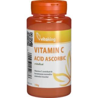 Vitamina C cristalizata, 150 g, Vitaking