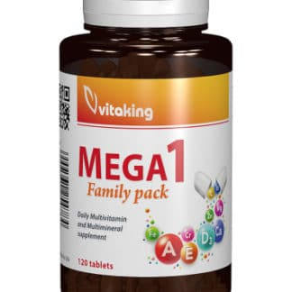 Multivitamina cu minerale Mega 1 cu folat natural, 120 cpr, Vitaking