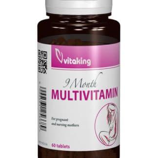 Multivitamina cu minerale 9 months cu folat natural, 60 cpr, Vitaking
