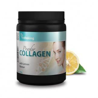 Colagen cu vitamina C - gust de lamaie, 330 g, Vitaking