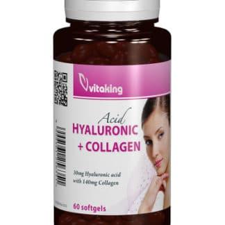 Acid hialuronic cu colagen, 60 cps, Vitaking
