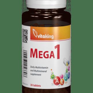 Multivitamina cu minerale si folat Mega 1, 30 cpr, Vitaking