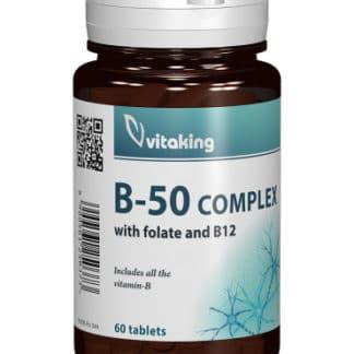 Complex Mega B-50 cu Folat, 60 cpr, Vitaking