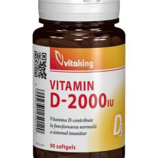 Vitamina D3 - 2000UI, 90 cps, Vitaking