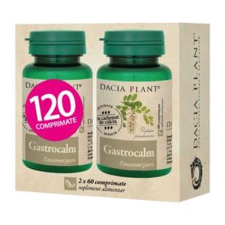 """Gastrocalm comprimate """"2 la pret de 1"""", 120 cpr, Dacia Plant"""