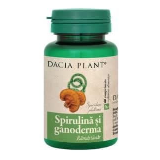 Spirulina si Ganoderma comprimate, 60 cpr, Dacia Plant