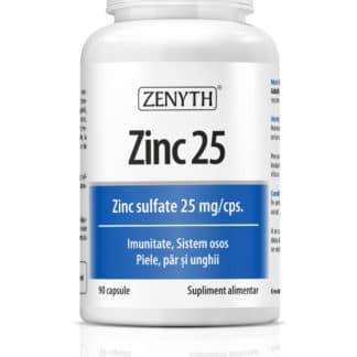 Zinc 25 sulfat de zinc. 25 mg/cps, 90 capsule, Zenyth