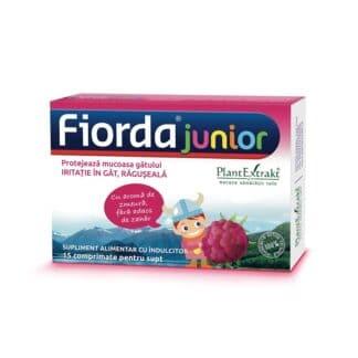 Fiorda Junior cu aroma de zmeura, 15 cpr, Plant Extrakt