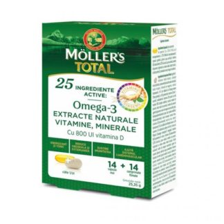 Moller's Total, 14 capsule + 14 comprimate, Moller's