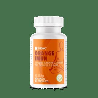 Orange Imun, supliment NATURAL pentru imunitate cu probiotice și extract pur de ghimbir și Vitamina C, 60 cps, Bitonic