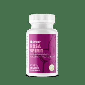 Rosa Spirit, complex anti-stres complet PREMIUM, cu vitamina B, extract de fructe și legume, 60 cps, Bitonic