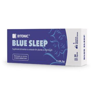 Blue Sleep, supliment NATURAL pentru odihnă și relaxare, 30 cps, Bitonic