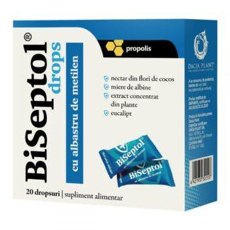 BiSeptol Drops cu Propolis si Albastru de Metilen, 20 buc, Dacia Plant