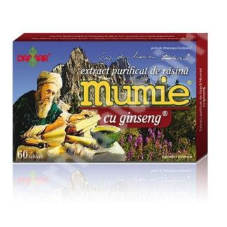 Extract purificat de rasina Mumie cu Ginseng, 60 tablete, Damar General Trading