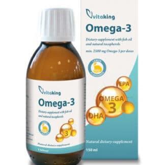 Omega 3 - ulei de peste cu gust de lamaie cu tocoferoli naturali 2500mg, 150 ml, Vitaking